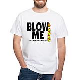 Birthday Mens Classic White T-Shirts
