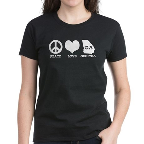 Peace Love Georgia Women's Dark T-Shirt