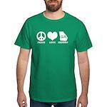 Peace Love Georgia Dark T-Shirt