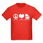 Peace Love Georgia Kids Dark T-Shirt
