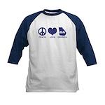 Peace Love Georgia Kids Baseball Jersey