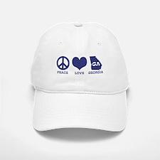 Peace Love Georgia Baseball Baseball Cap