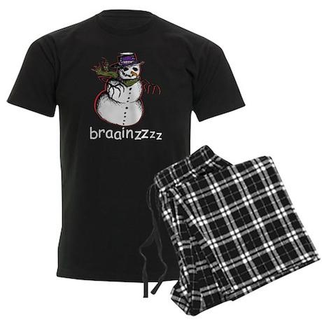 Zombie snowman Men's Dark Pajamas