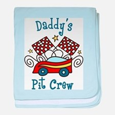 Daddys Pit Crew baby blanket