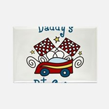 Daddys Pit Crew Rectangle Magnet
