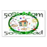 Stylish Maternity Rectangle Sticker