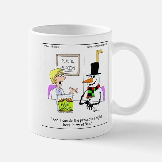 Snowman gets a nose job Mug