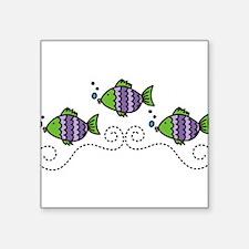 """Fish Square Sticker 3"""" x 3"""""""