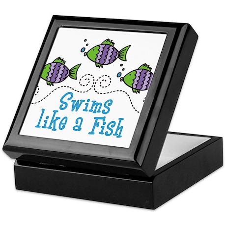 Swims Like A Fish Keepsake Box