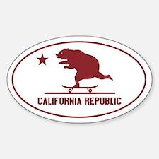 California Skateboarding Bear Flag Decal