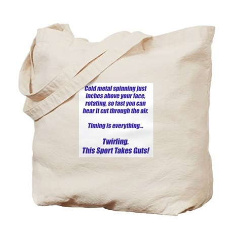 Twirling. This sport takes guts! Tote Bag