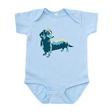 Dachshund Pop Art dog Infant Bodysuit