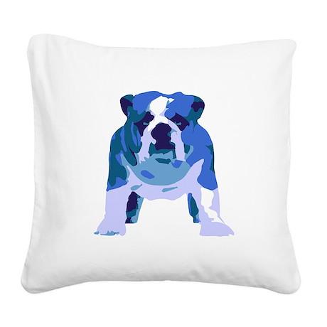 English Bulldog Pop Art Square Canvas Pillow