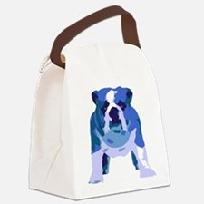English Bulldog Pop Art Canvas Lunch Bag