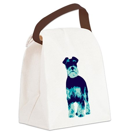 Schnauzer Pop Art dog Canvas Lunch Bag