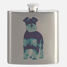 Schnauzer Pop Art dog Flask