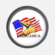 Chihuahua USA Wall Clock