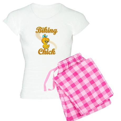 Biking Chick #2 Women's Light Pajamas