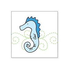 """Seahorse Square Sticker 3"""" x 3"""""""