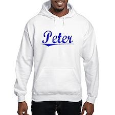 Peter, Blue, Aged Hoodie