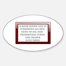 Forbidden Books Decal