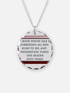 Forbidden Books Necklace