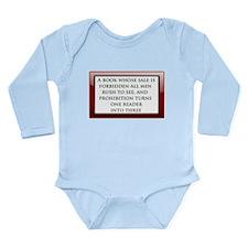 Forbidden Books Long Sleeve Infant Bodysuit