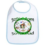 50% Mom 50% Dad Bib