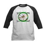 50% Mom 50% Dad Kids Baseball Jersey