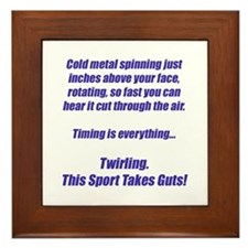 Twirling.  This sport takes guts! Framed Tile