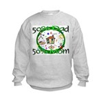 50% Dad 50% Mom Kids Sweatshirt