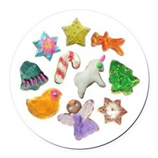 Christmas Cookies Round Car Magnet