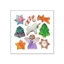 """Christmas Cookies Square Sticker 3"""" x 3"""""""