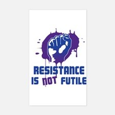 Resistance Is Not Futile Slogan Decal