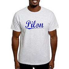 Pilon, Blue, Aged T-Shirt
