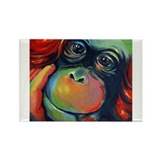 Orangutan Sam Rectangle Magnet