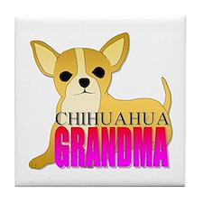 Chihuahua Grandma Tile Coaster