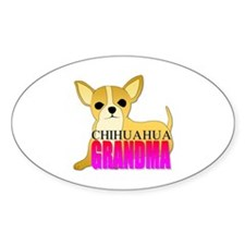 Chihuahua Grandma Oval Decal