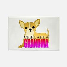 Chihuahua Grandma Rectangle Magnet