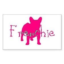 Frenchie Craze Rectangle Decal