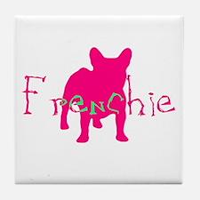 Frenchie Craze Tile Coaster