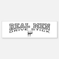 Real Men Drive Stick Bumper Bumper Sticker