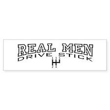 Real Men Drive Stick Bumper Sticker