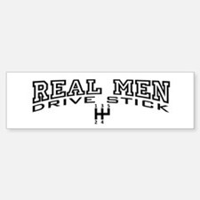 Real Men Drive Stick Sticker (Bumper)