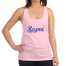 Reyna, Blue, Aged Racerback Tank Top
