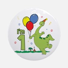 Dino First Birthday Ornament (Round)