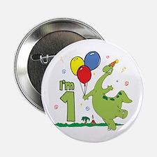 """Dino First Birthday 2.25"""" Button"""