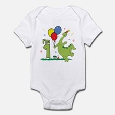 Dino First Birthday Infant Bodysuit