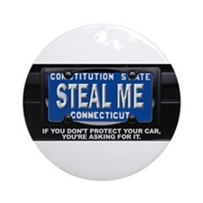 Steal My Conneticut Car Ornament (Round)