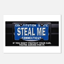 Steal My Conneticut Car Postcards (Package of 8)